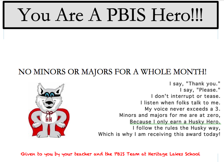 pbis awesome gear homework